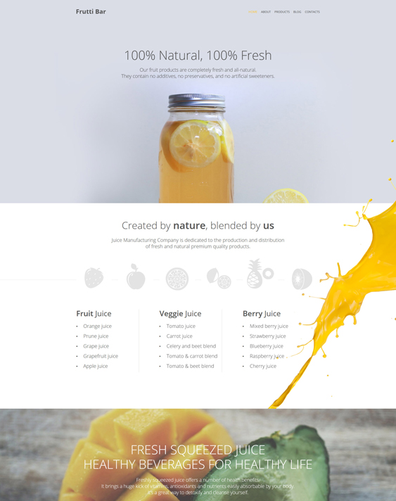 frutti parallax wordpress themes