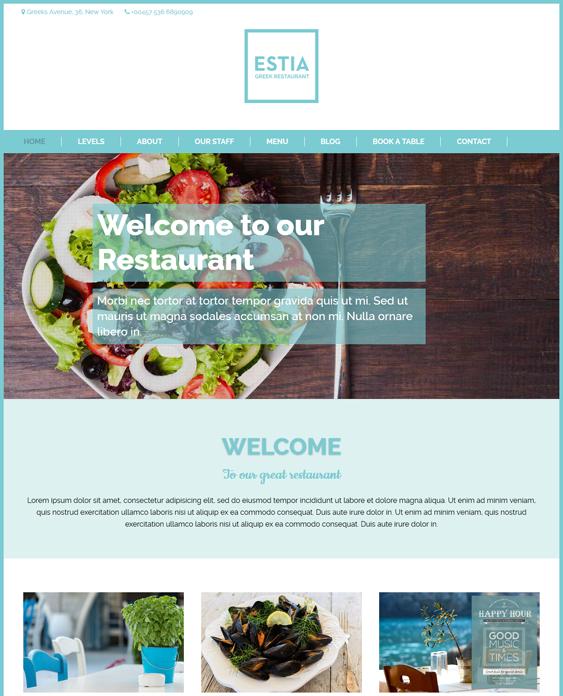 greek restaurant wordpress themes