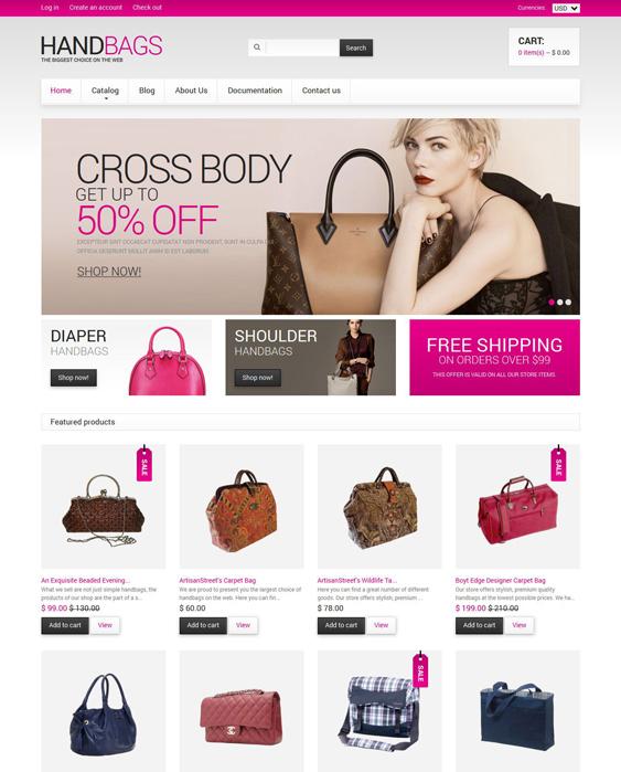 handbags purses shopify themes 2