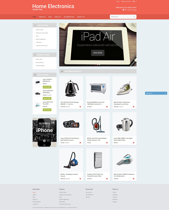 home office electronics shopify themes
