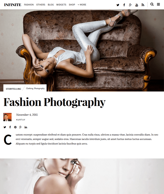 infinite fashion blog wordpress themes