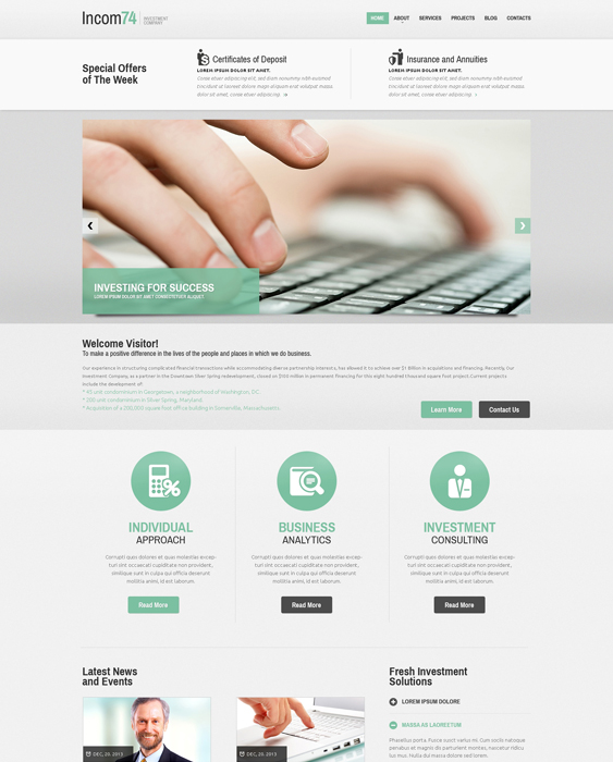 investment financial joomla templates 1