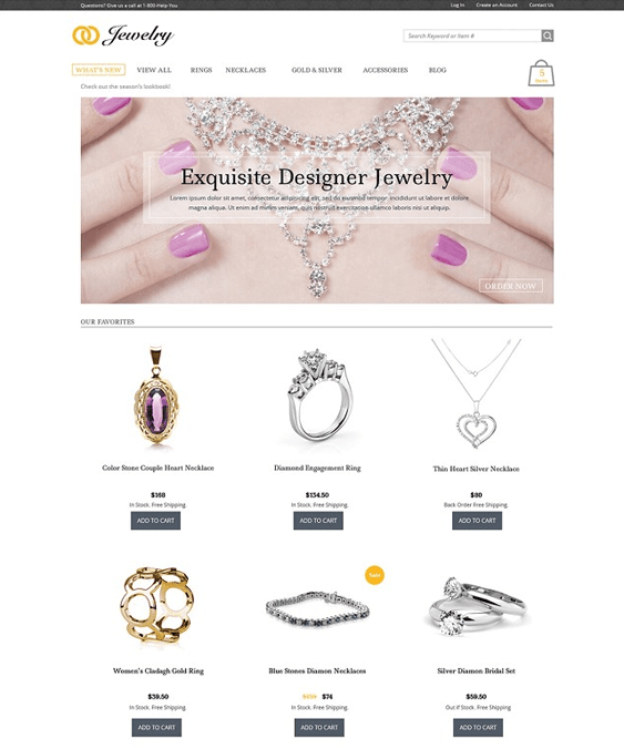 jewelry free clean 3dcart themes