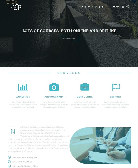 levelup education wordpress themes