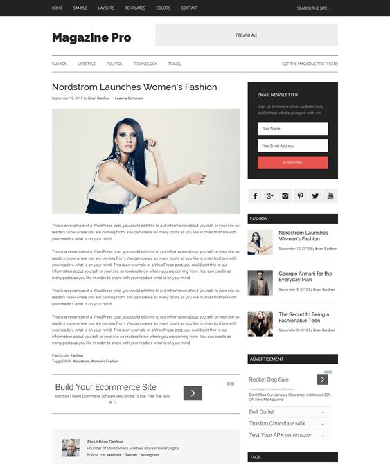 magazine pro news wordpress themes