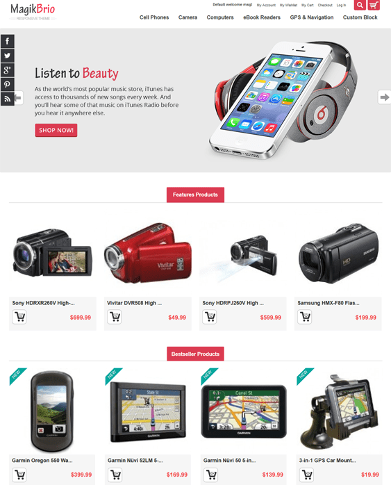 magik magento themes electronic stores