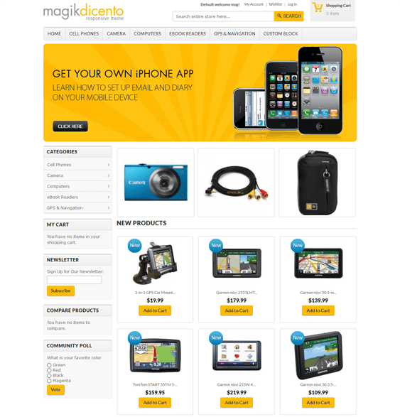 magik dicento magento themes electronic stores