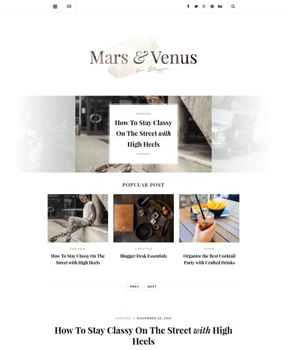 mars fashion blog wordpress themes