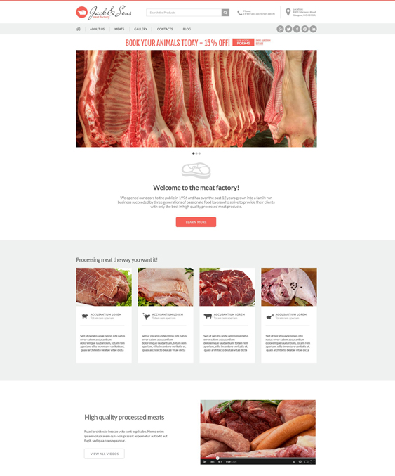 meat clean drupal themes