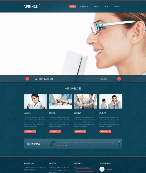 merchant financial joomla templates