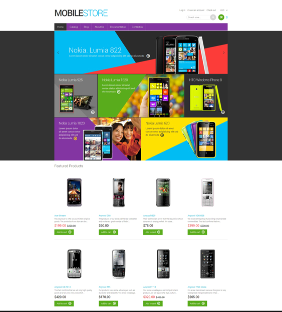 mobile store electronics shopify themes