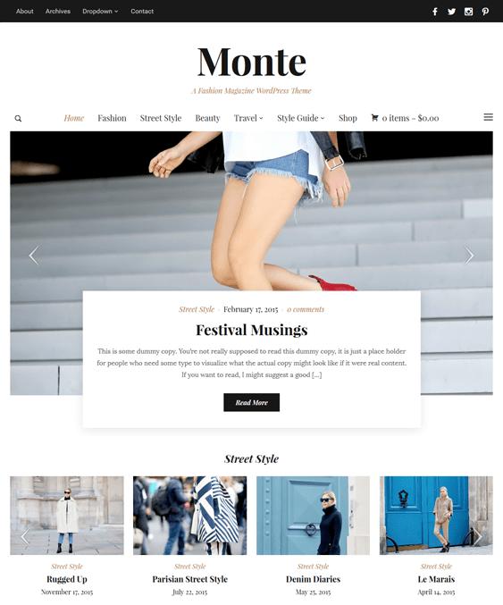 monte news magazine wordpress themes