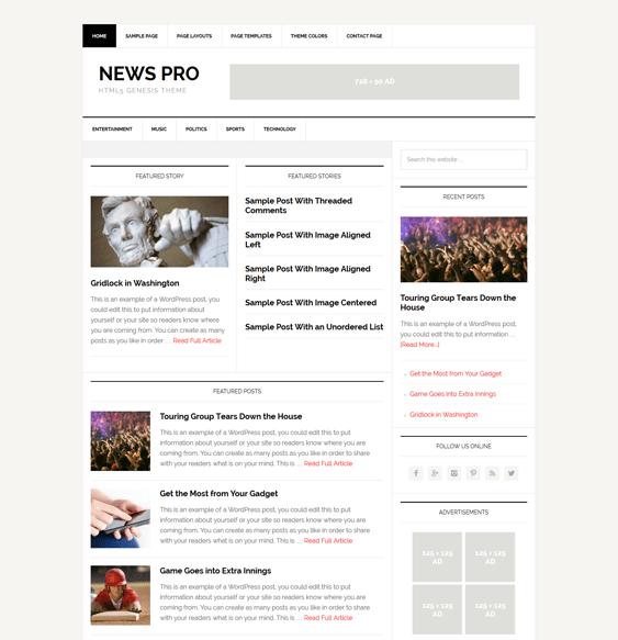 news pro magazine wordpress themes