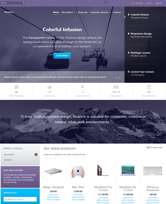 nuance magento themes electronic stores