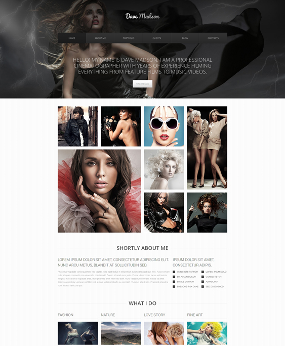 photographer clean drupal themes