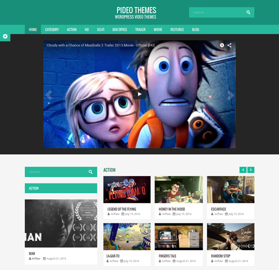 pideo video wordpress themes
