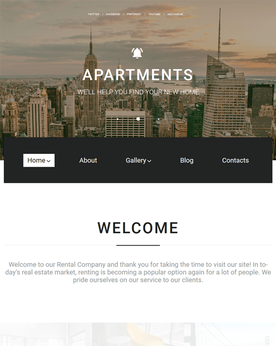 real estate parallax wordpress themes