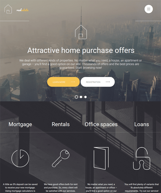 real estate parallax wordpress themes 1