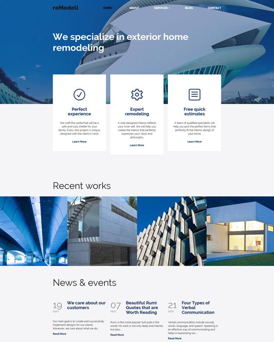 remodell architect wordpress themes