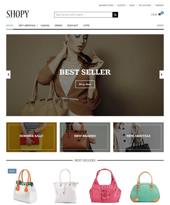 shopy woocommerce themes