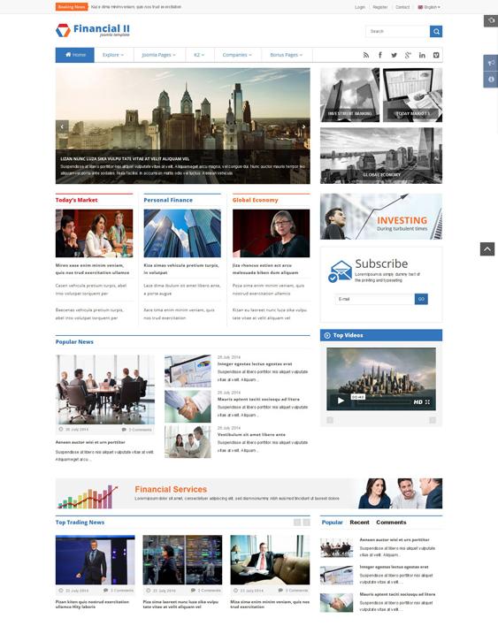 sj financial news magazine joomla templates