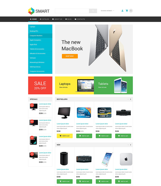 smart responsive virtuemart themes