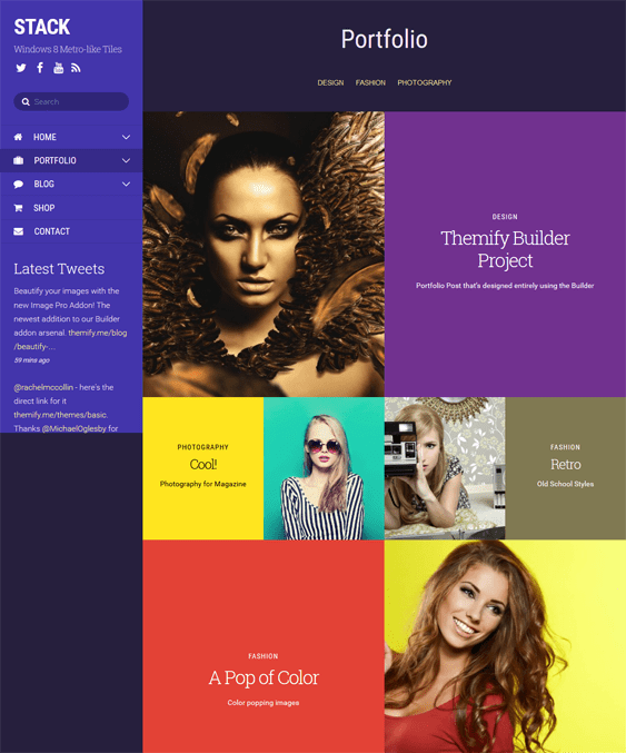 stack portfolio wordpress themes