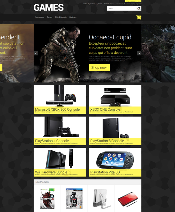 store magento themes electronic stores