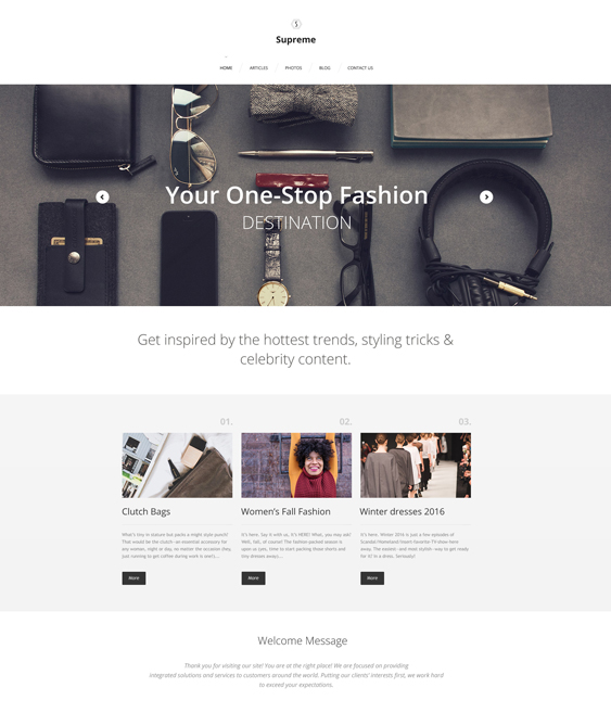 supreme parallax wordpress themes