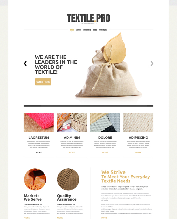 textile minimal joomla templates