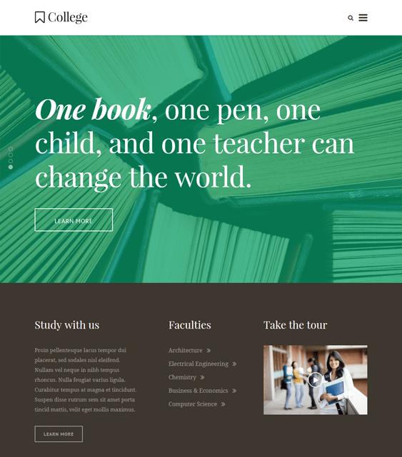 the core education wordpress themes