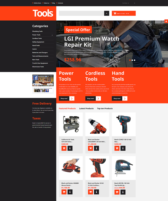 tools responsive virtuemart themes