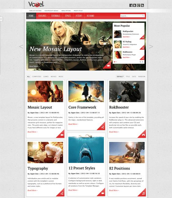 voxel news magazine joomla templates