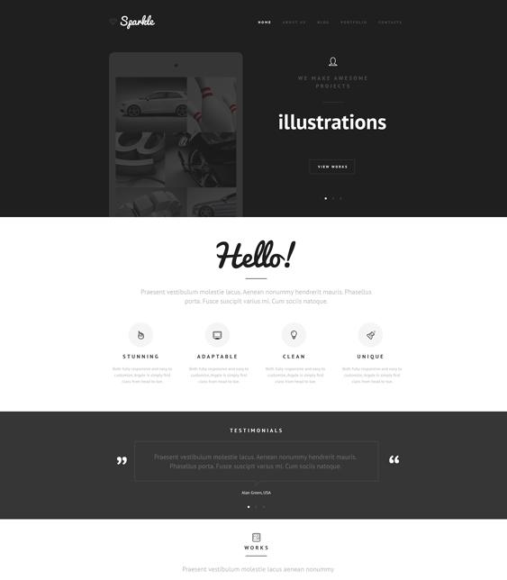 web design minimal joomla templates