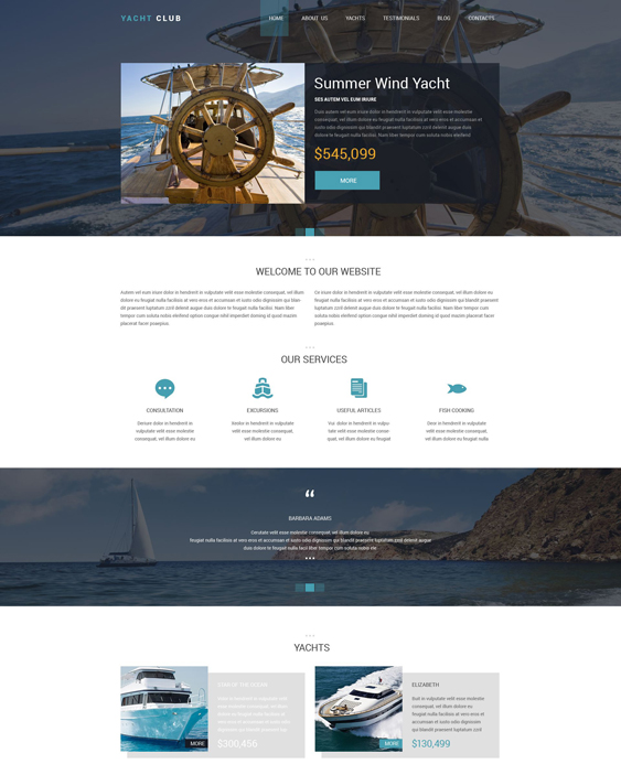 yacht clean drupal themes