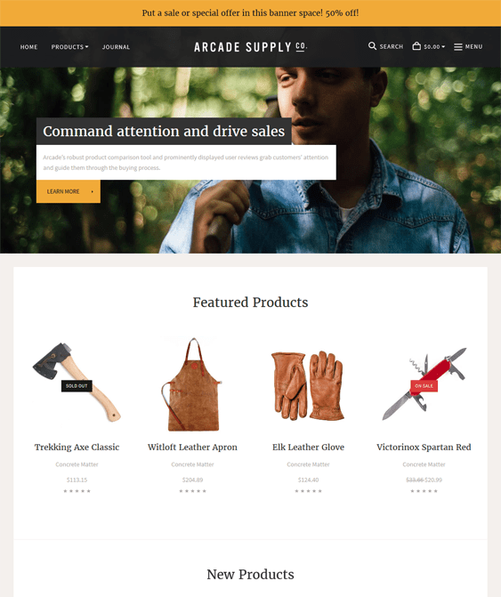 arcade natural clean bigcommerce themes
