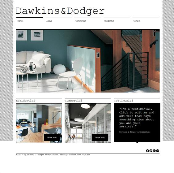 architecture portfolio wix templates