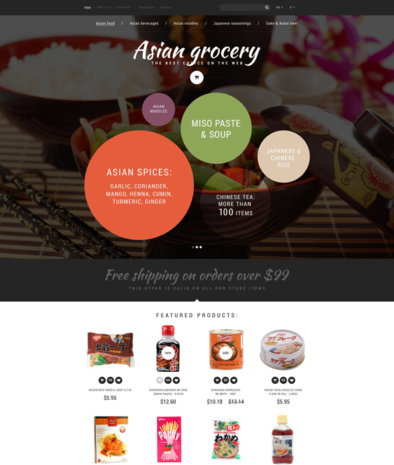 asian food drink restaurant opencart themes