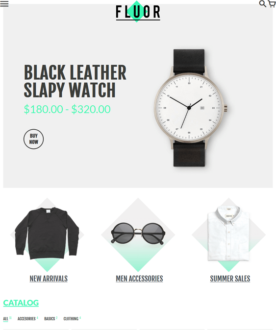 colors minimal shopify themes