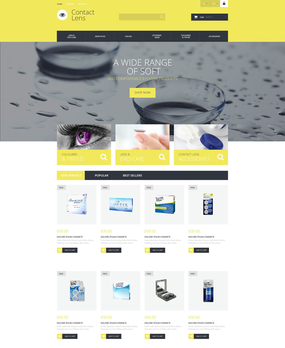 contact lens medical prestashop themes 1