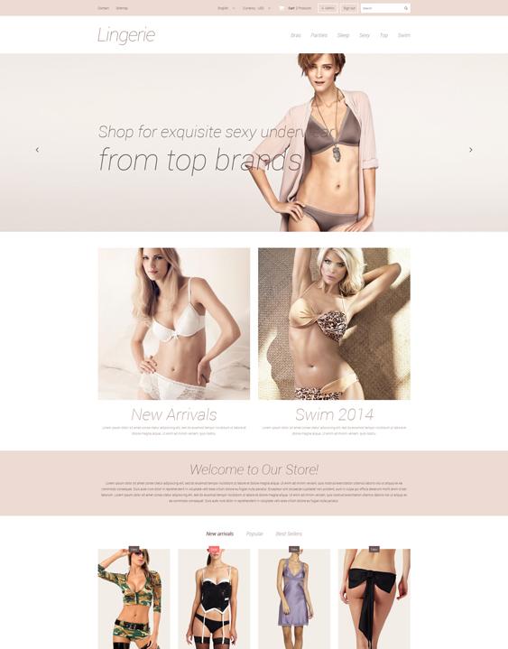 elegant lingerie prestashop themes