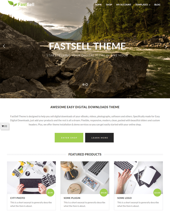 fastsell easy digital downloads wordpress themes