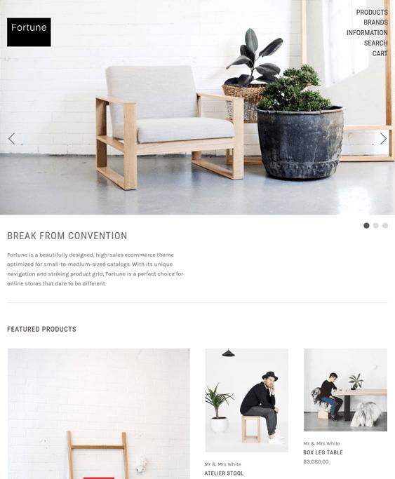 fortune free minimal bigcommerce themes home decor furniture