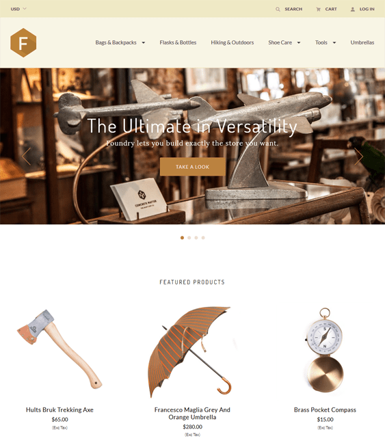 foundry warm clean bigcommerce themes