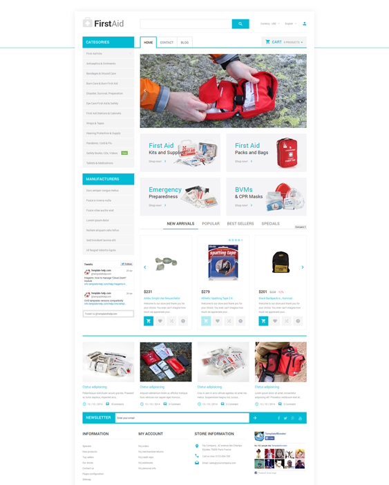 healthcare medical prestashop themes