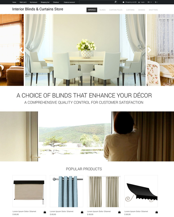interior minimal opencart themes