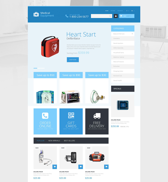 medical care prestashop themes
