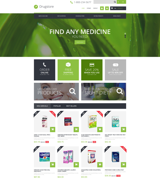 medical prestashop themes ecommerce