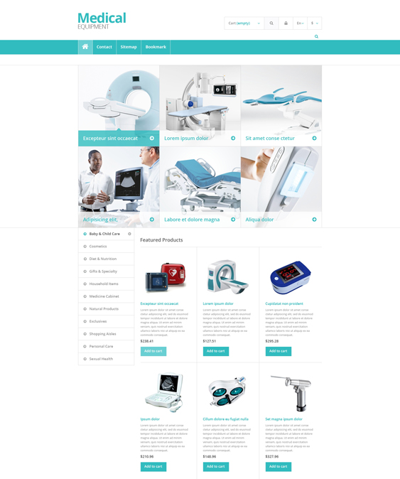 medical prestashop themes equipment
