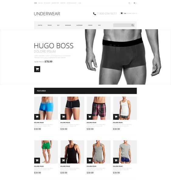 mens underwear minimal opencart themes